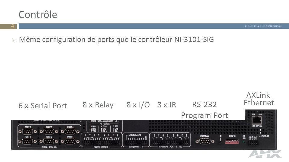 Contrôle AXLink Ethernet 6 x Serial Port 8 x Relay 8 x I/O 8 x IR