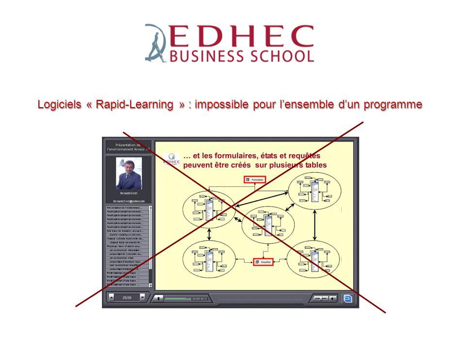 Logiciels « Rapid-Learning » : impossible pour l'ensemble d'un programme