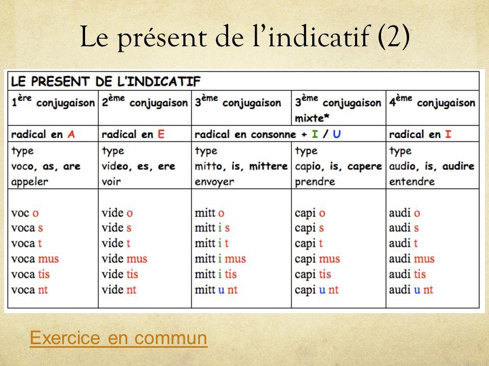 Le présent de l'indicatif (2)