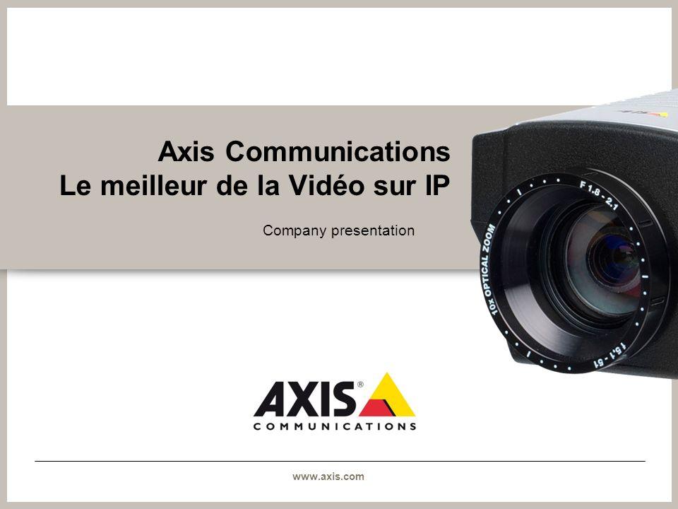 Axis Communications Le meilleur de la Vidéo sur IP