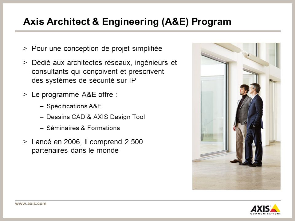 Axis Architect & Engineering (A&E) Program