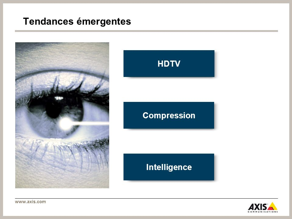 Tendances émergentes HDTV Compression Intelligence 26