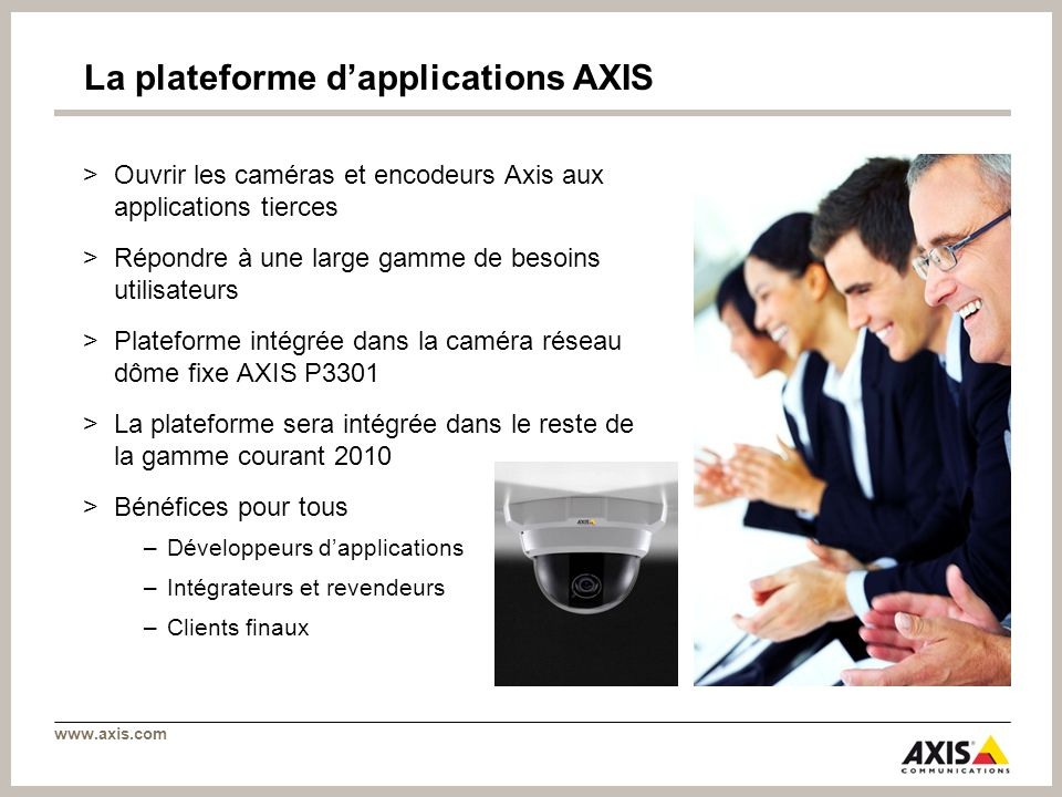 La plateforme d'applications AXIS