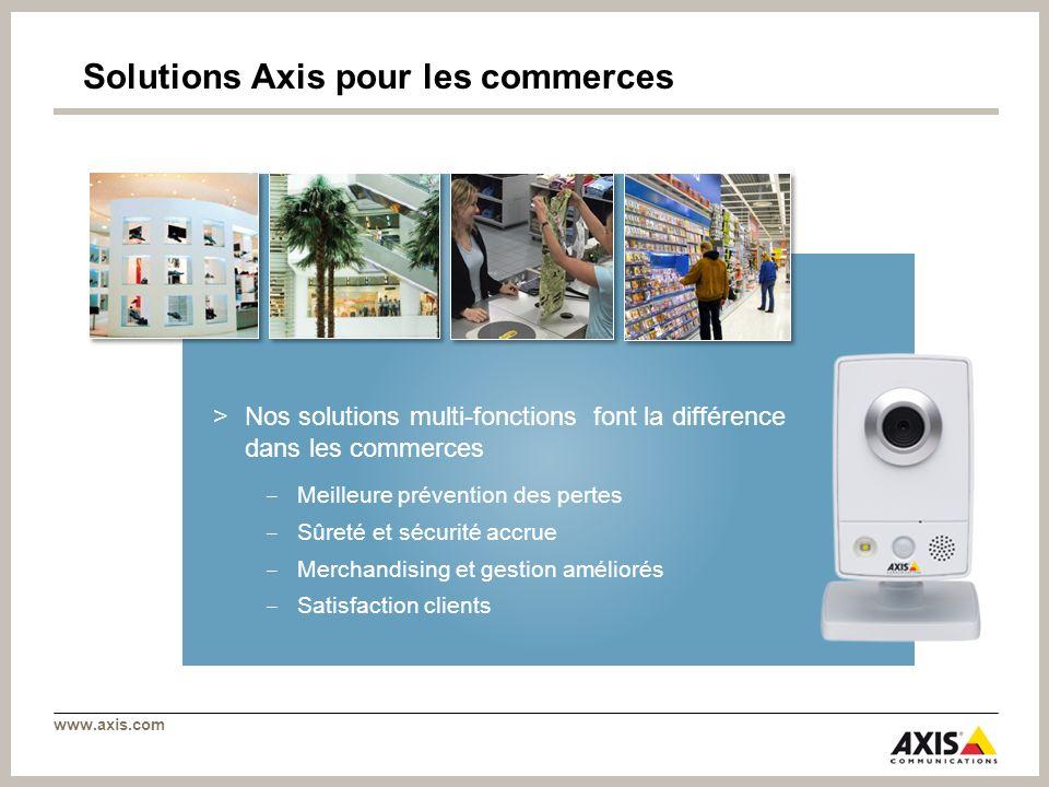 Solutions Axis pour les commerces