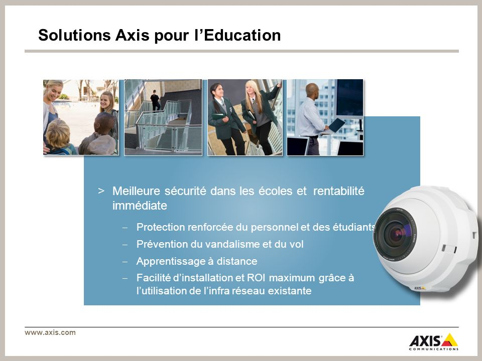 Solutions Axis pour l'Education