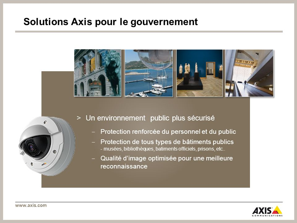 Solutions Axis pour le gouvernement