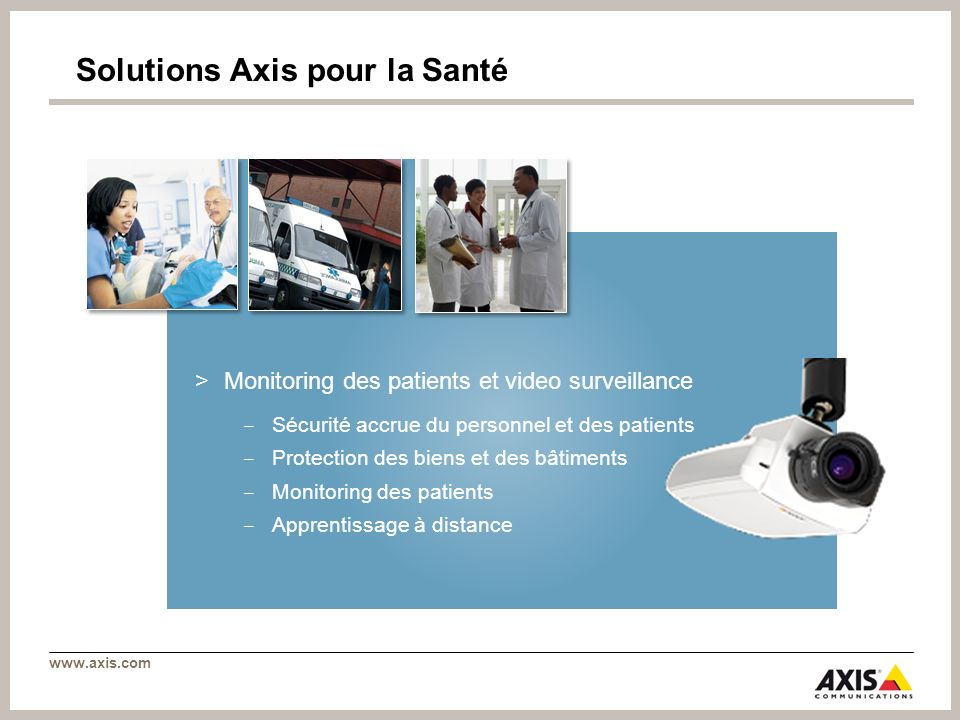 Solutions Axis pour la Santé