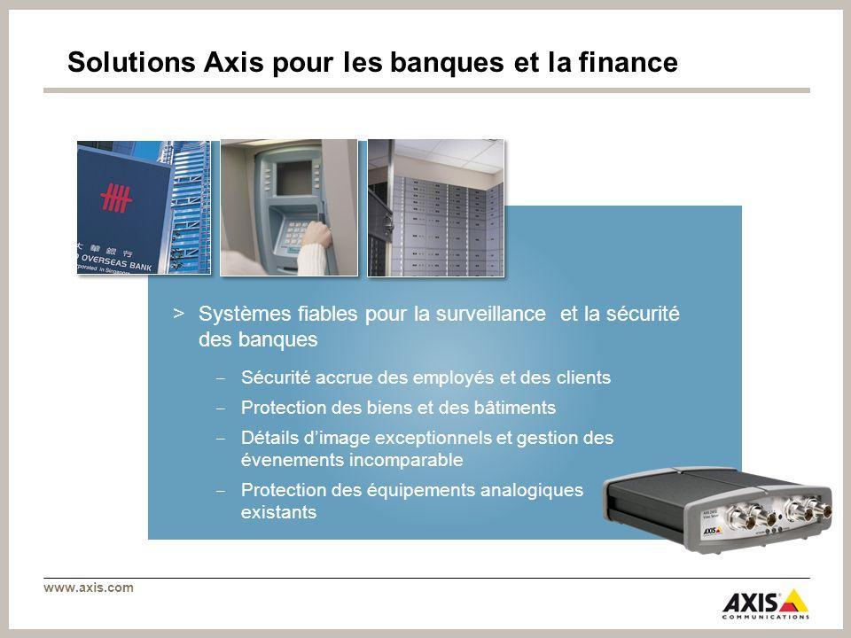 Solutions Axis pour les banques et la finance