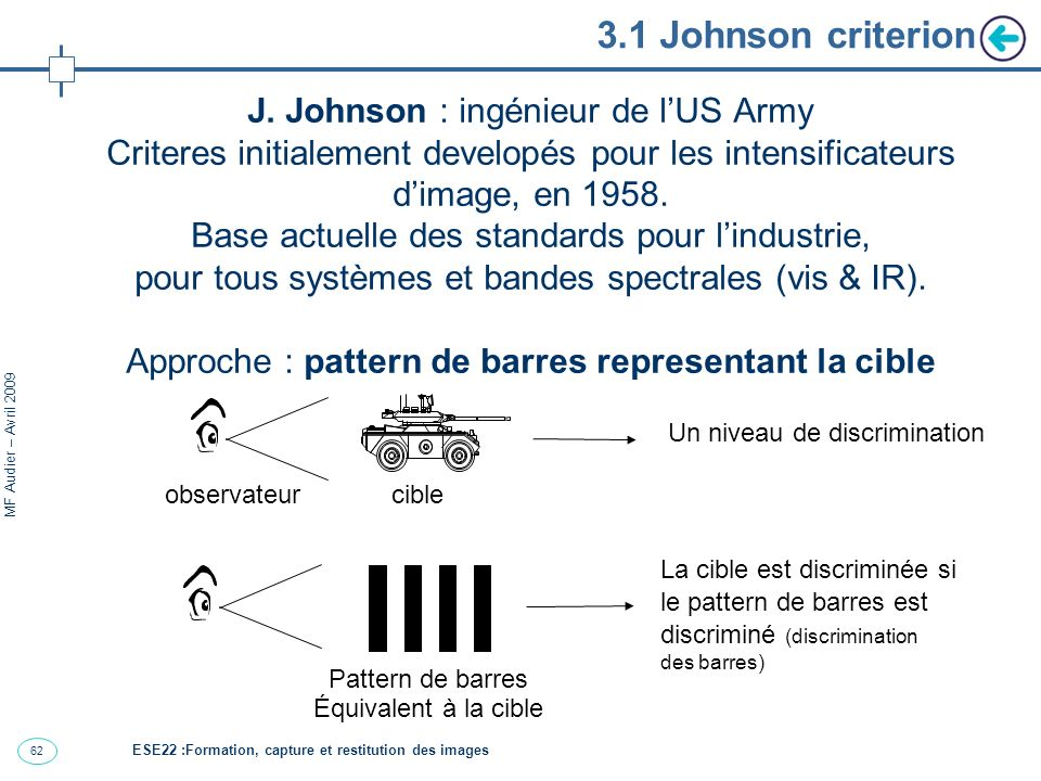3.1 Johnson criterion J. Johnson : ingénieur de l'US Army