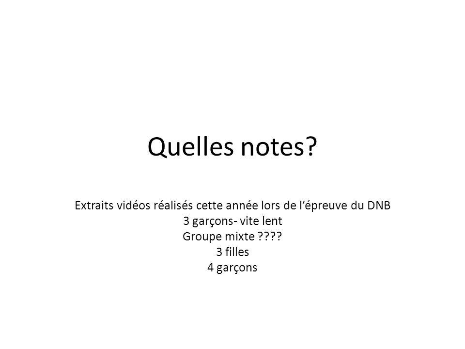 Extraits vidéos réalisés cette année lors de l'épreuve du DNB