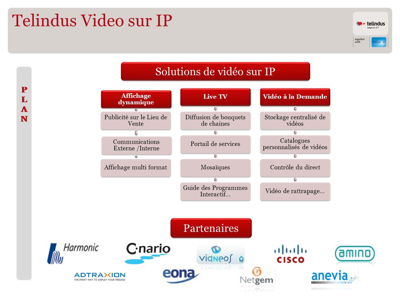 Telindus Video sur IP Solutions de vidéo sur IP Partenaires