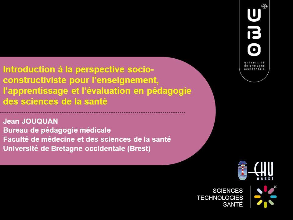 Introduction à la perspective socio-constructiviste pour l'enseignement, l'apprentissage et l'évaluation en pédagogie des sciences de la santé