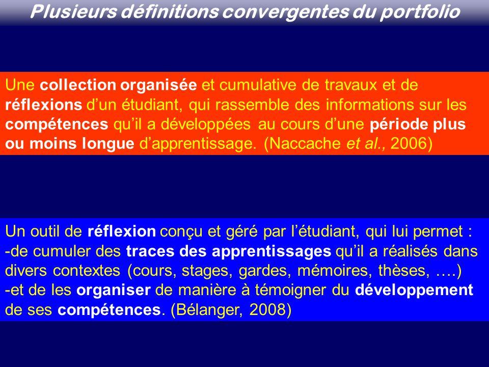 Plusieurs définitions convergentes du portfolio