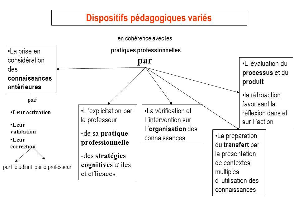 Dispositifs pédagogiques variés pratiques professionnelles