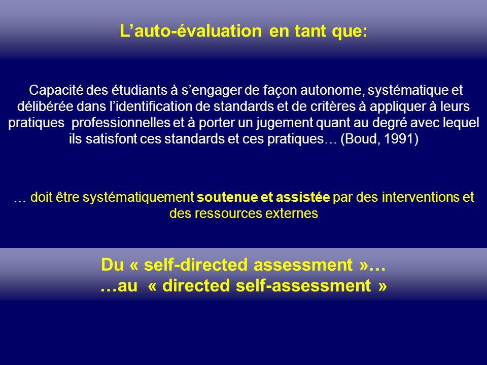 L'auto-évaluation en tant que: