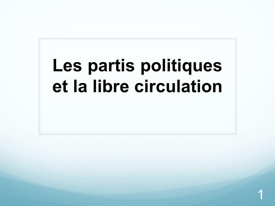Les partis politiques et la libre circulation