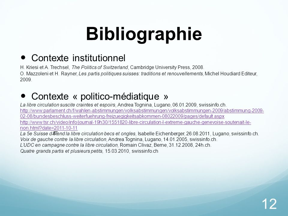 Bibliographie Contexte institutionnel Contexte « politico-médiatique »