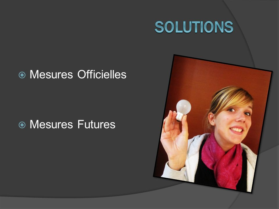 Solutions Mesures Officielles Mesures Futures