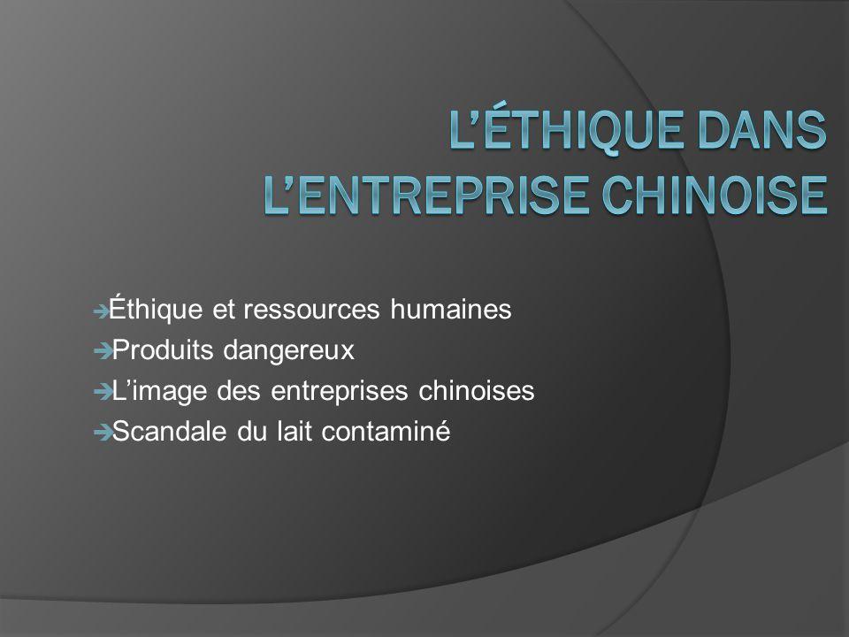 L'éthique dans l'entreprise chinoise