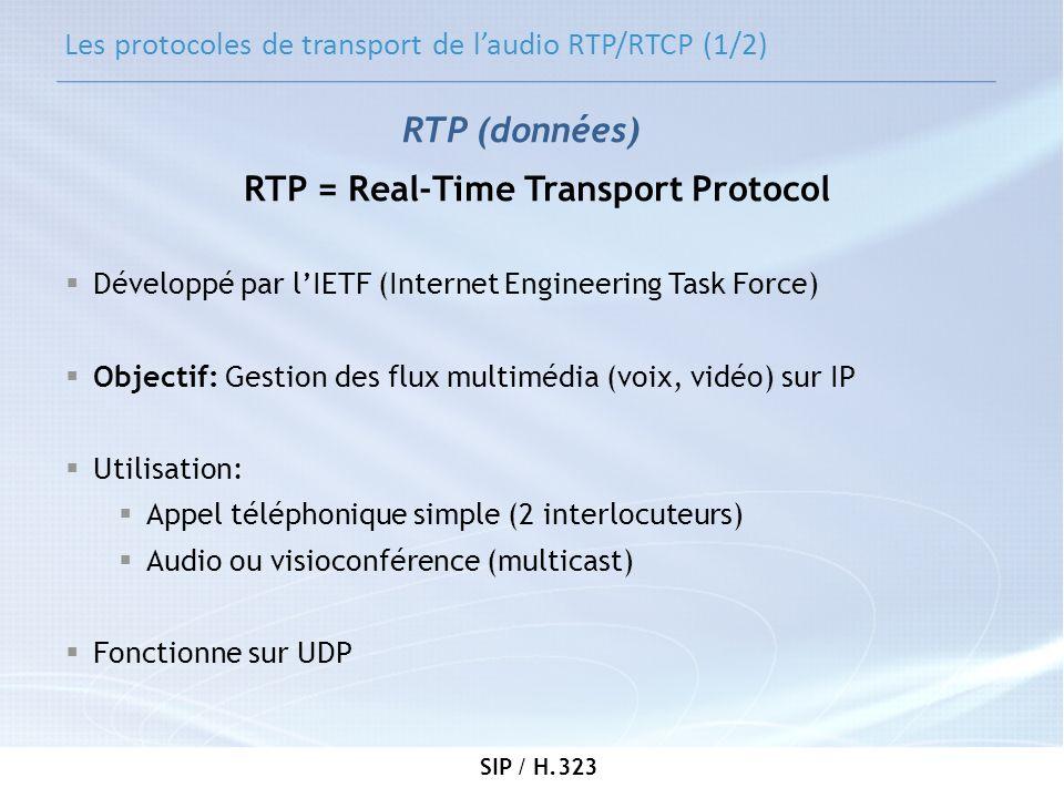 Les protocoles de transport de l'audio RTP/RTCP (1/2)