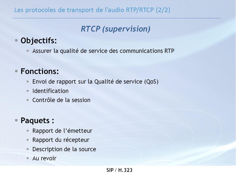 Les protocoles de transport de l'audio RTP/RTCP (2/2)