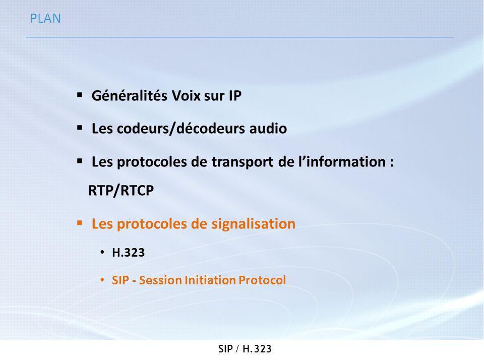 Généralités Voix sur IP Les codeurs/décodeurs audio