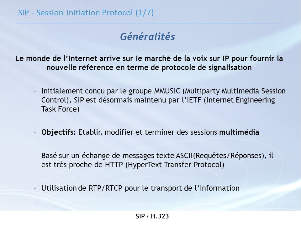 SIP - Session Initiation Protocol (1/7)