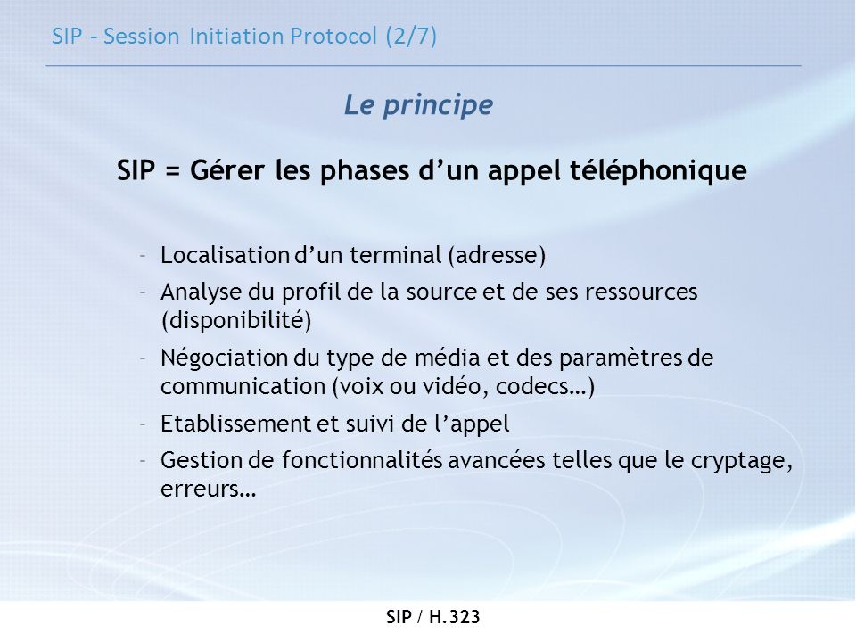 SIP - Session Initiation Protocol (2/7)