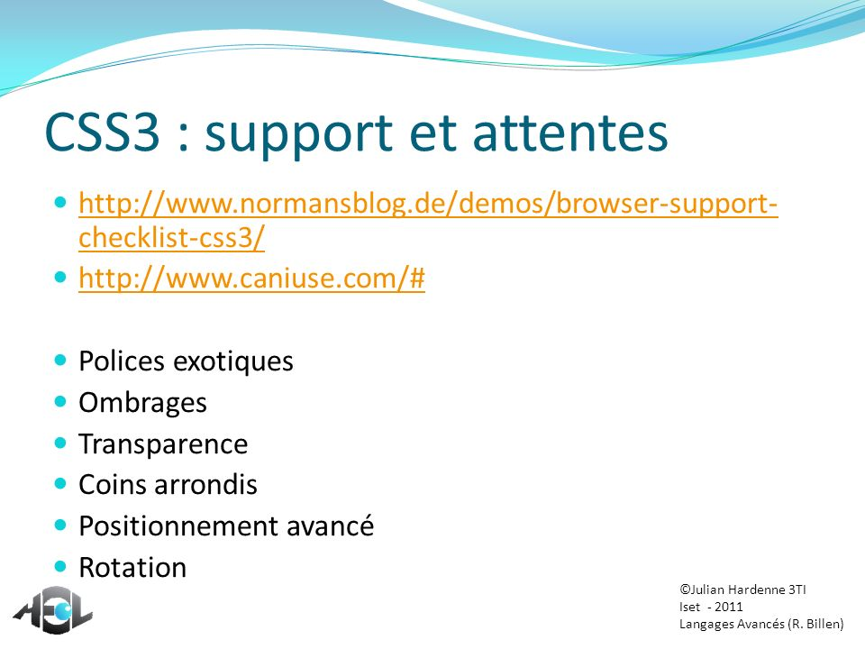 CSS3 : support et attentes