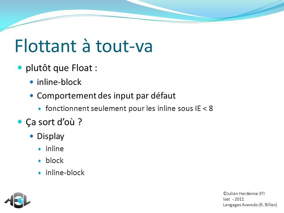 Flottant à tout-va plutôt que Float : Ça sort d'où inline-block