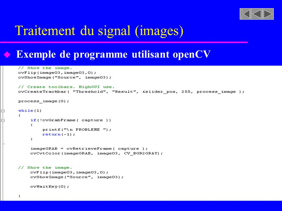 Traitement du signal (images)