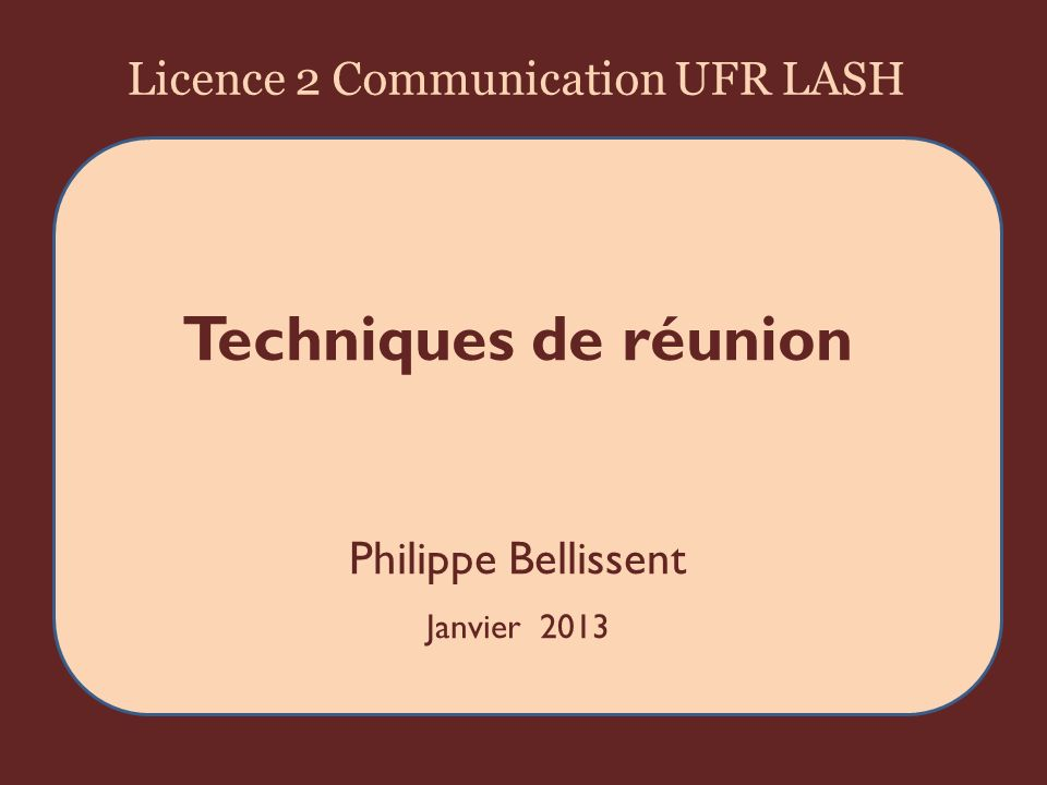 Licence 2 Communication UFR LASH