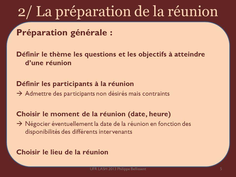 2/ La préparation de la réunion