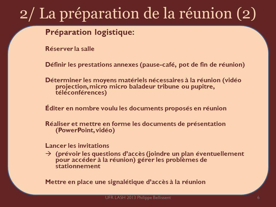 2/ La préparation de la réunion (2)