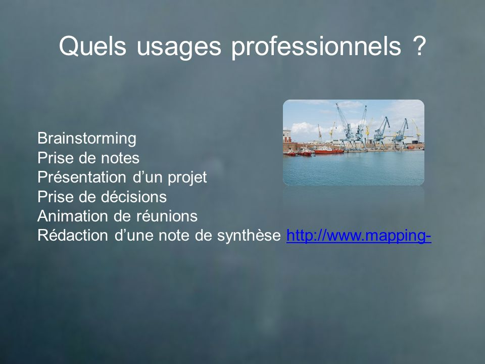 Quels usages professionnels