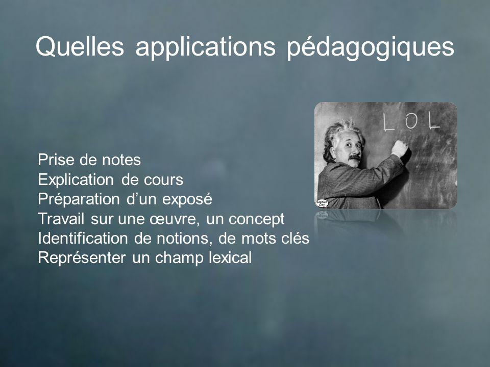 Quelles applications pédagogiques