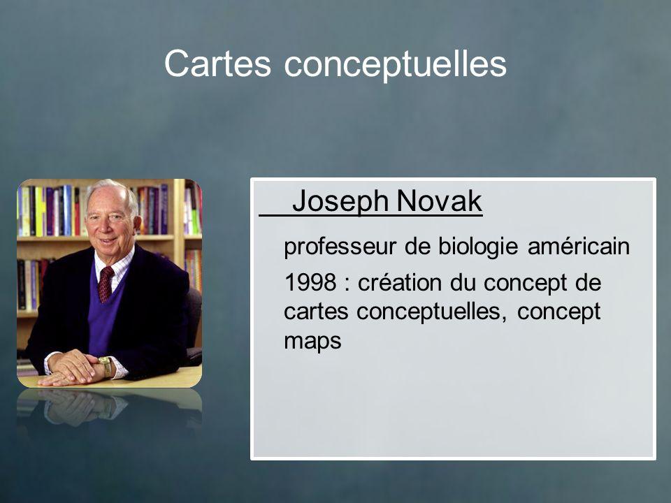 Cartes conceptuelles Joseph Novak professeur de biologie américain