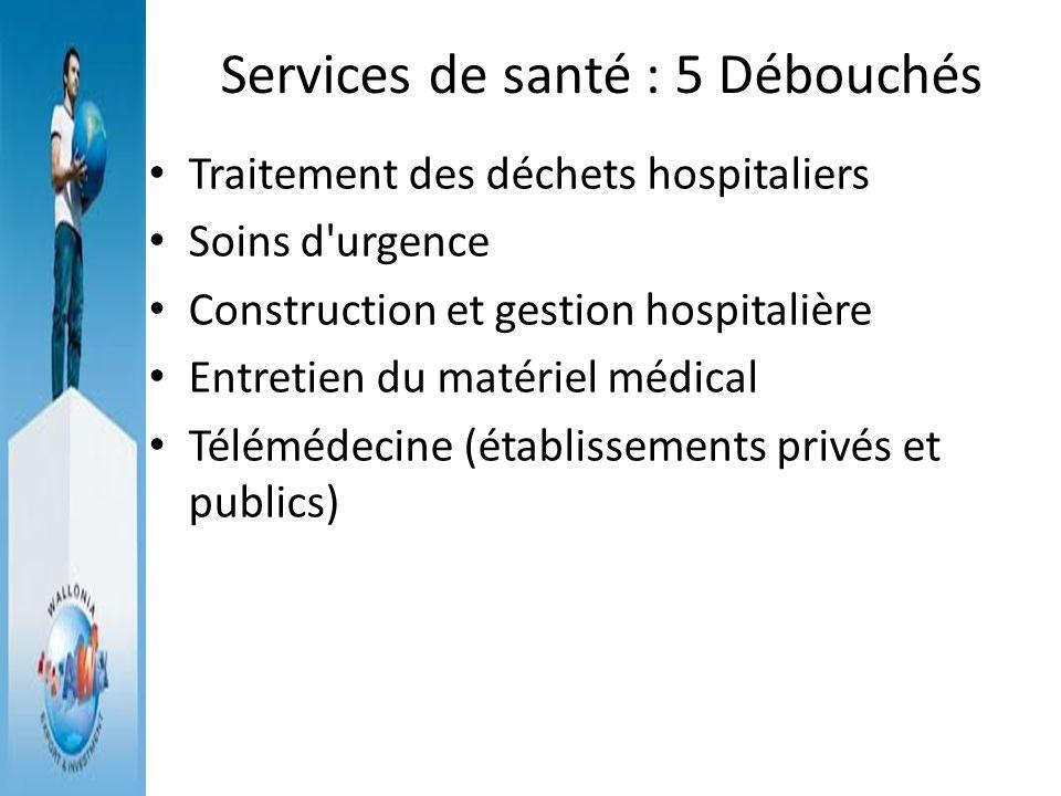Services de santé : 5 Débouchés