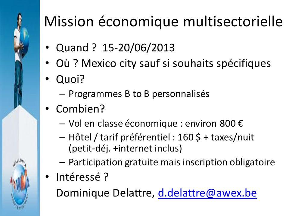 Mission économique multisectorielle