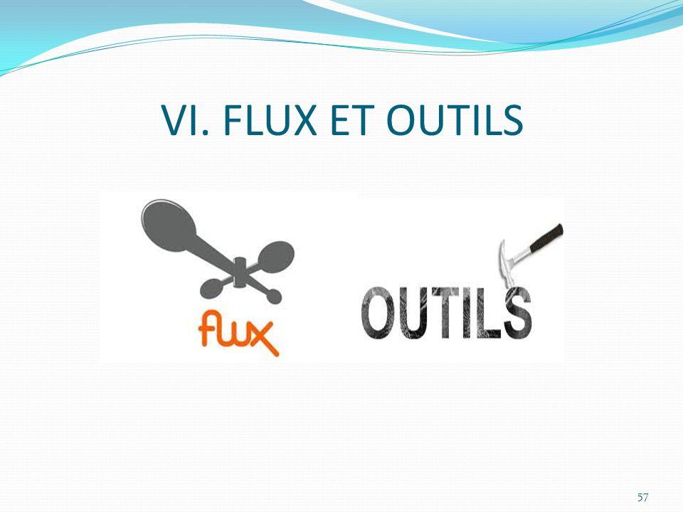 VI. FLUX ET OUTILS