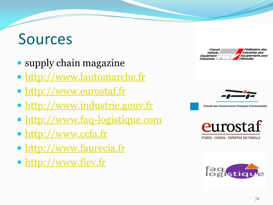 Sources supply chain magazine http://www.lautomarche.fr
