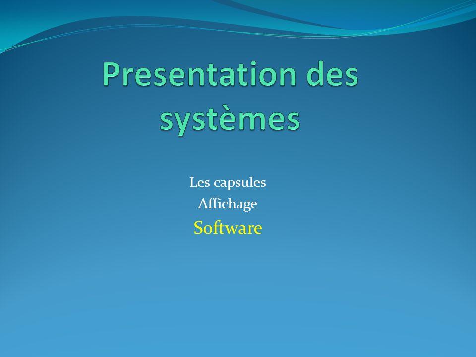 Presentation des systèmes
