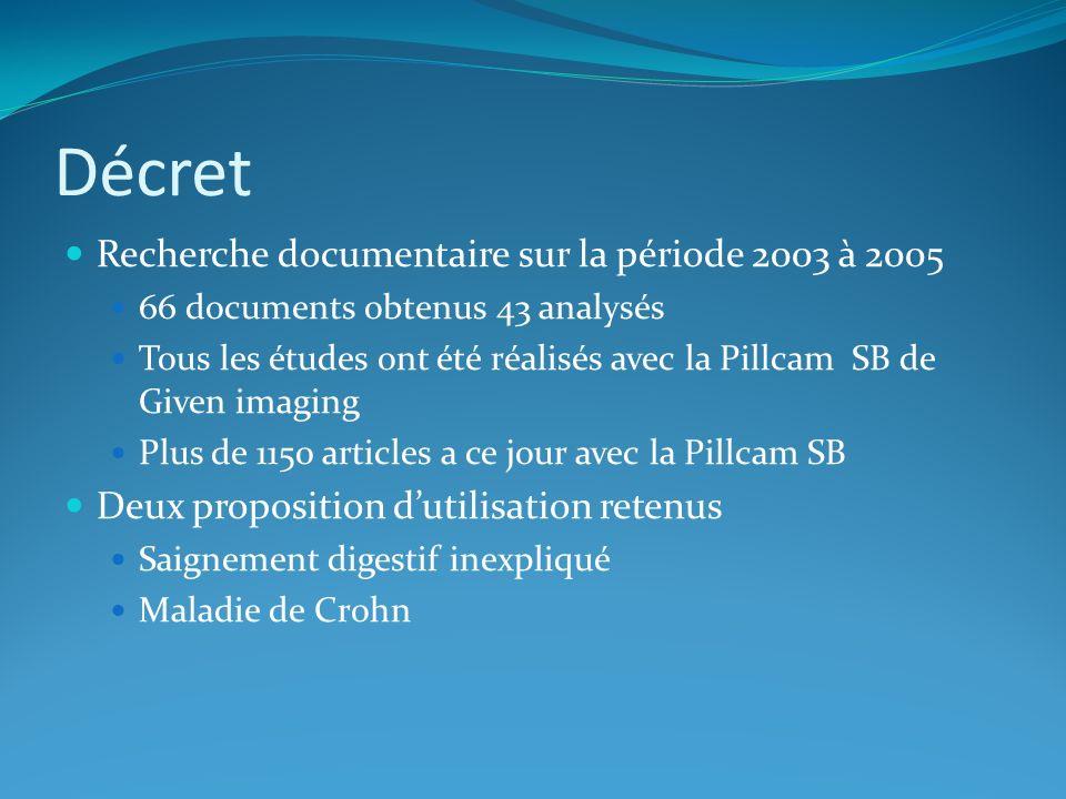 Décret Recherche documentaire sur la période 2003 à 2005