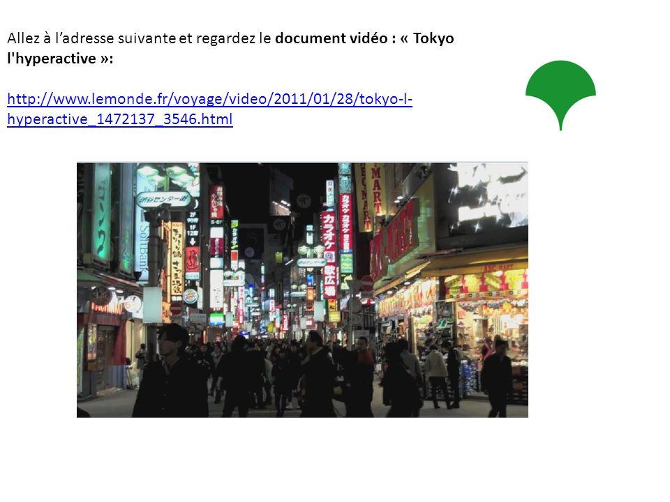 Allez à l'adresse suivante et regardez le document vidéo : « Tokyo l hyperactive »:
