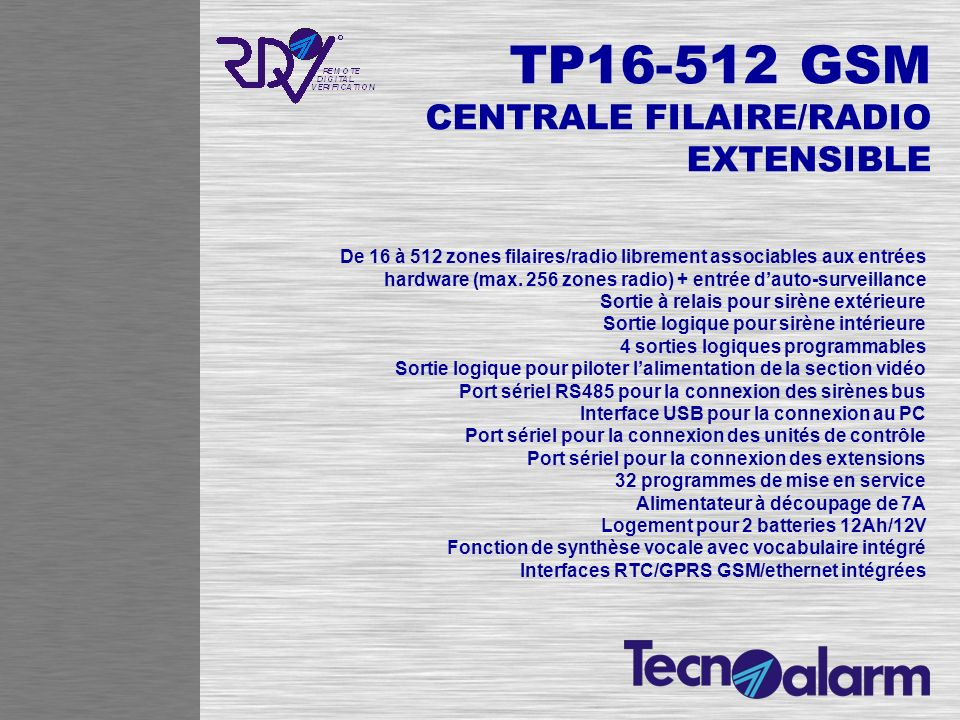 TP16-512 GSM CENTRALE FILAIRE/RADIO EXTENSIBLE