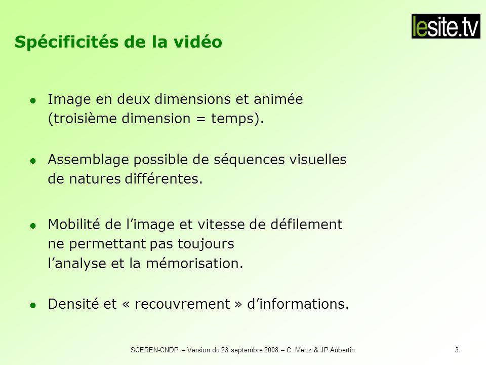 Spécificités de la vidéo numérique