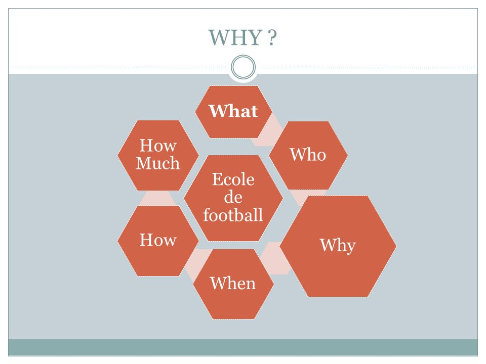 WHY Ecole de football What Who Why When How How Much