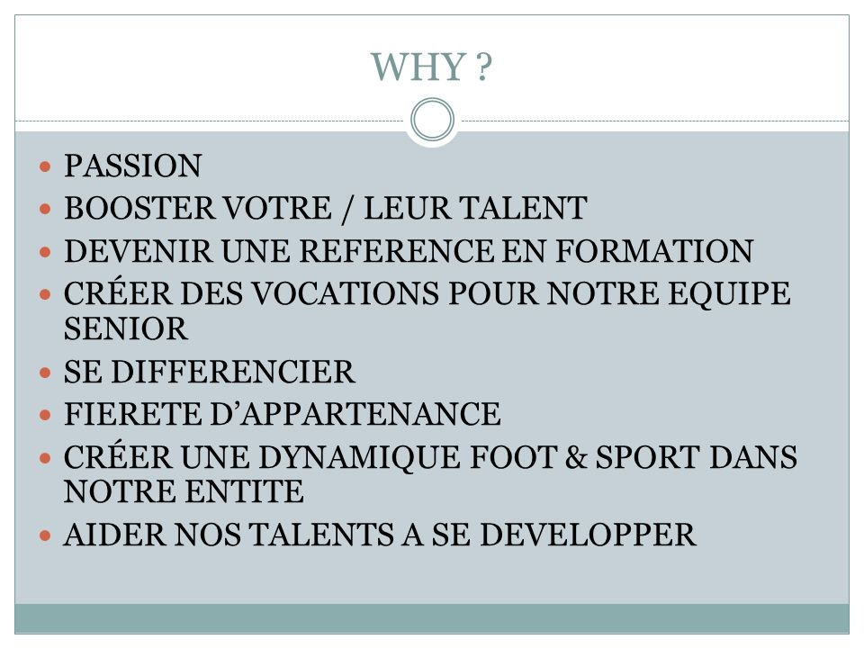 WHY PASSION BOOSTER VOTRE / LEUR TALENT