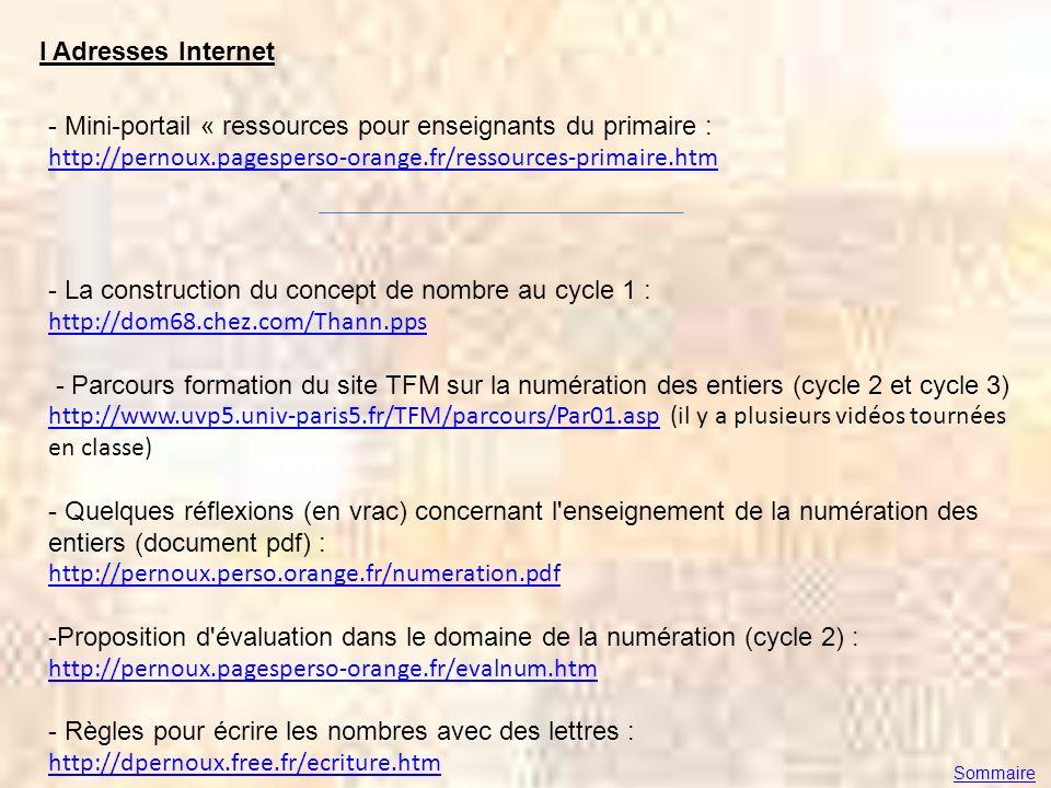 Mini-portail « ressources pour enseignants du primaire :