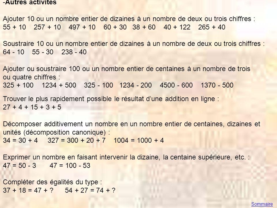 Compléter des égalités du type : 37 + 18 = 47 + 54 + 27 = 74 +